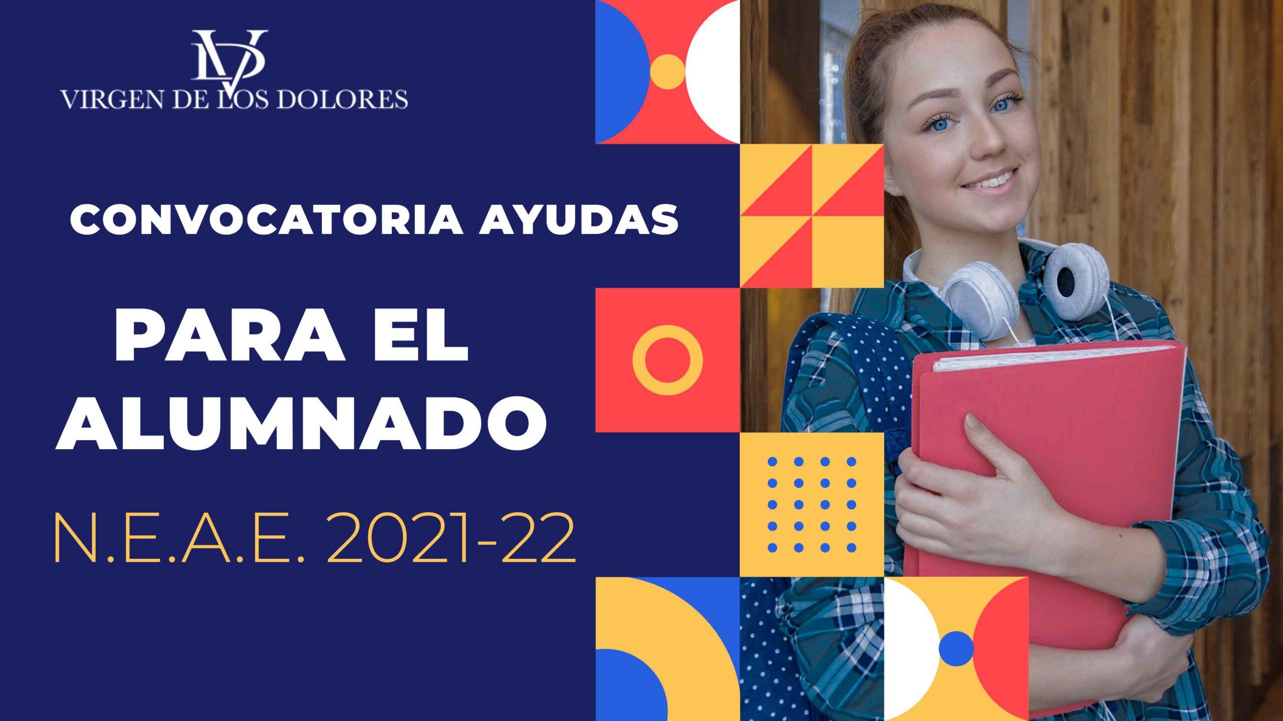 CONVOCATORIA AYUDAS PARA EL ALUMNADO N.E.A.E. 2021-22