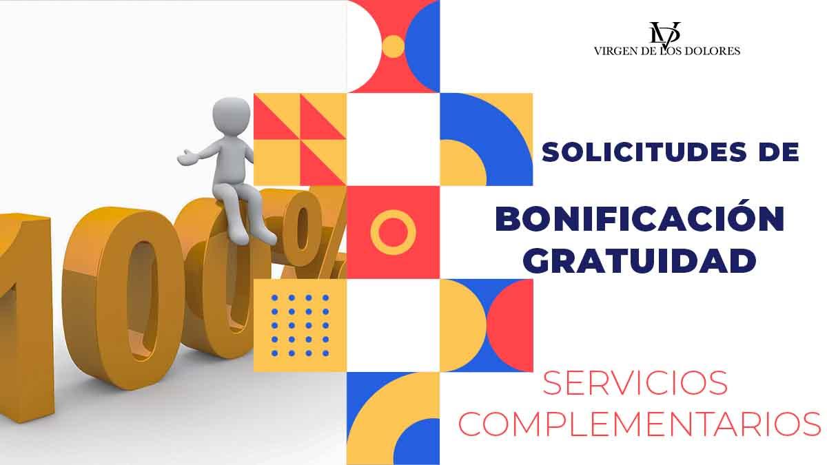 SOLICITUDES DE BONIFICACIÓN-GRATUIDAD DE SERVICIOS COMPLEMENTARIOS (CURSO 21/22)
